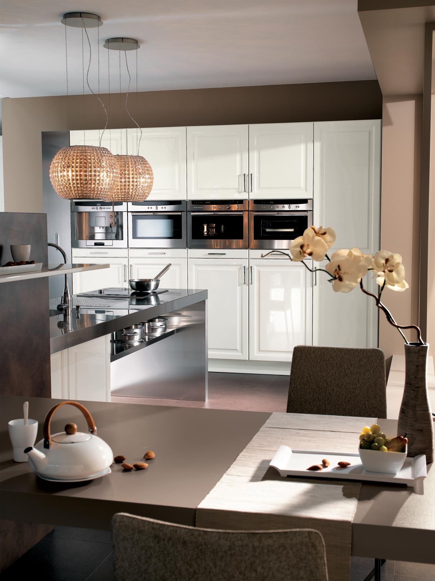 cuisine cameline laqu blanc brillant perene lyon. Black Bedroom Furniture Sets. Home Design Ideas