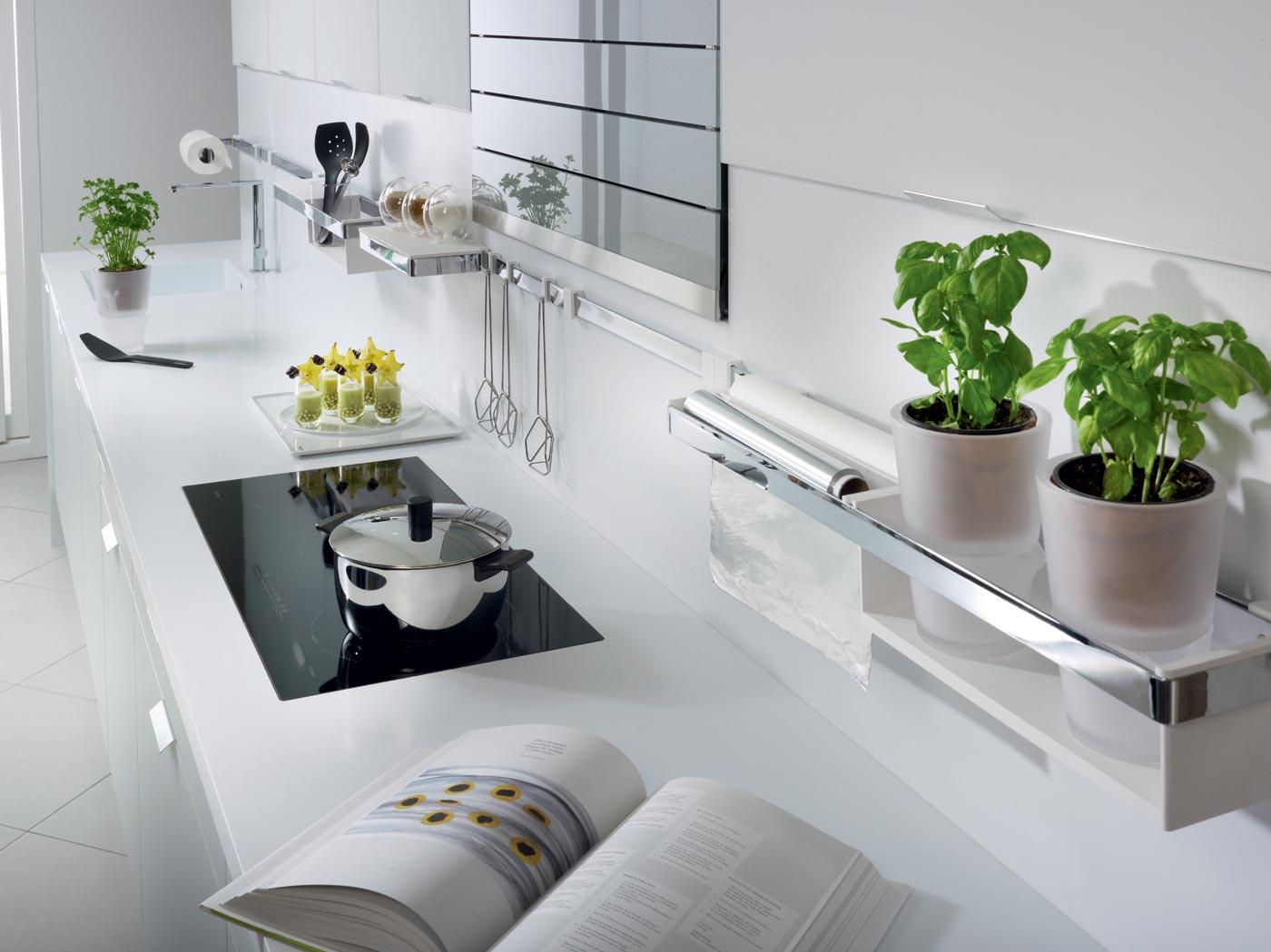 cuisine m100 m lamin blanc pur mat rustica clair structur perene lyon. Black Bedroom Furniture Sets. Home Design Ideas