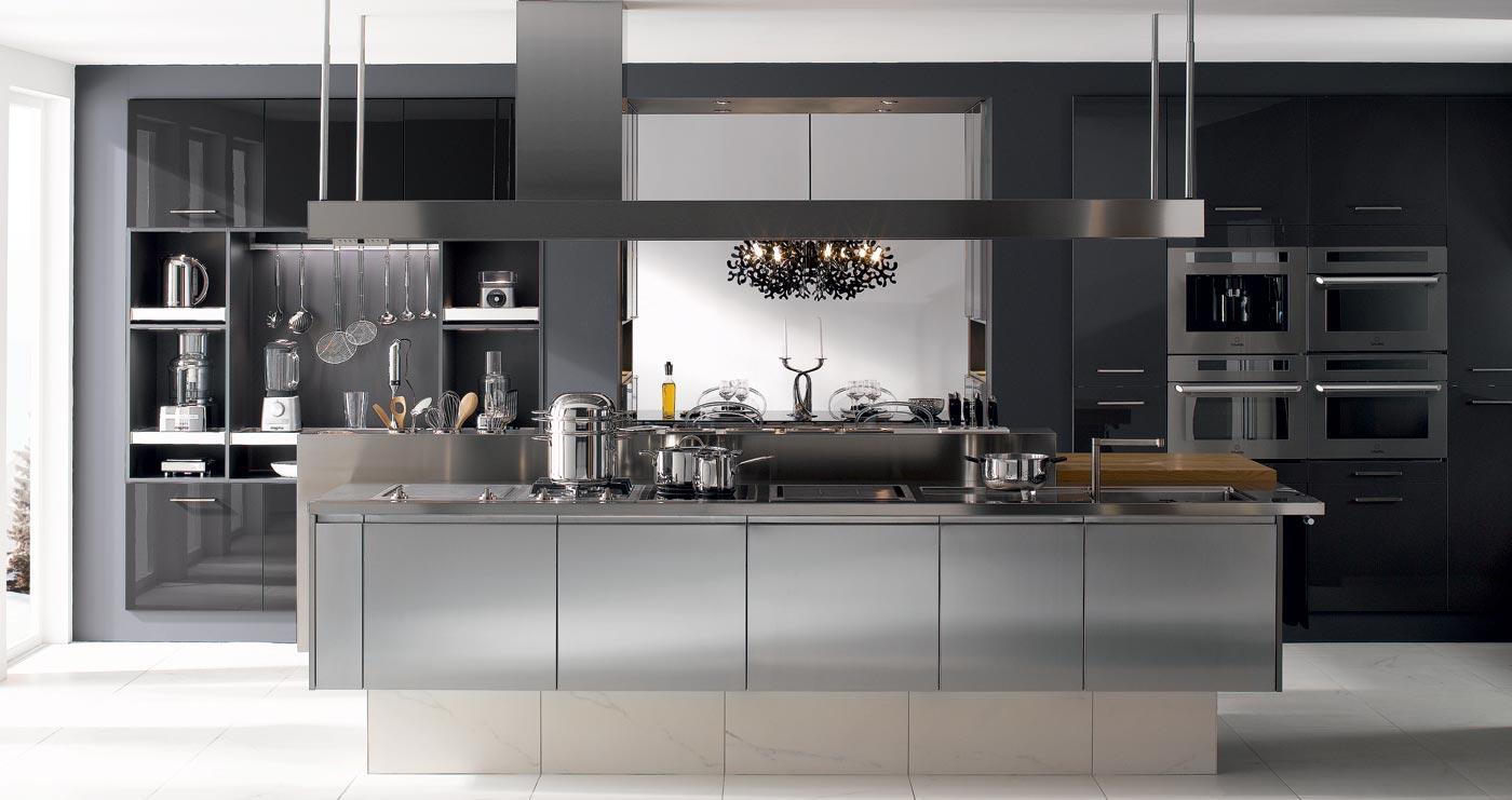 Cuisine design gris anthracite - Cuisine equipee gris anthracite ...